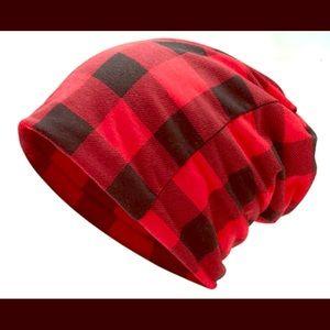 Buffalo print hat, scarf, ears warmer, leggings
